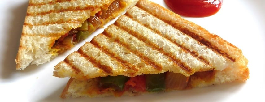 Veg Grilled Sandwich Recipe Tasty Breakfast Toasties Desidakaar
