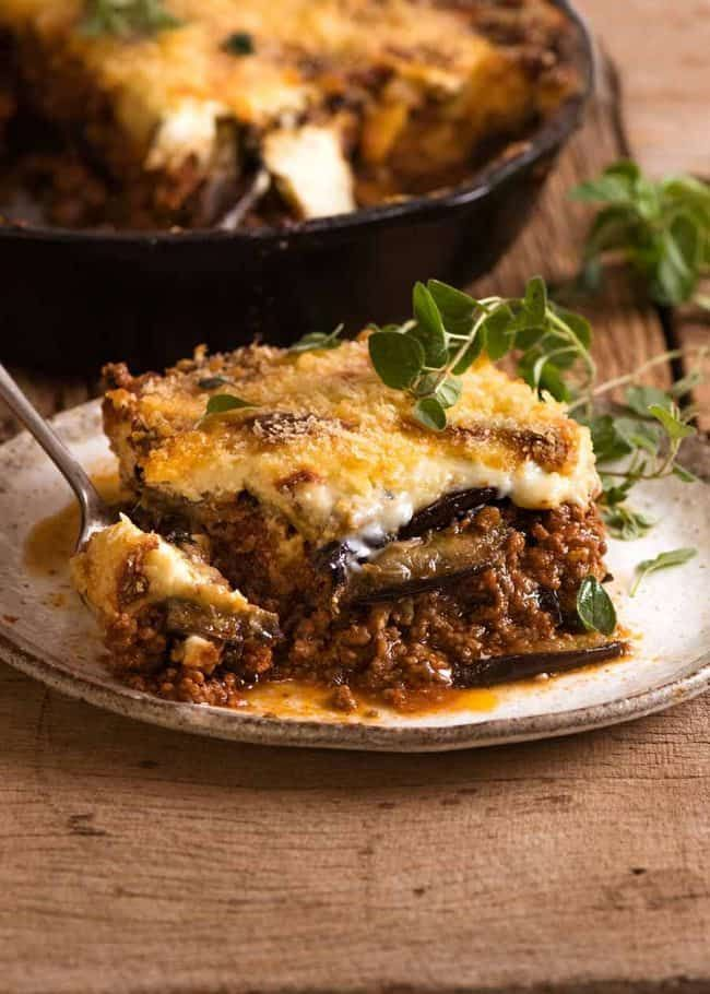 Greek Moussaka is a traditional Greek dish.